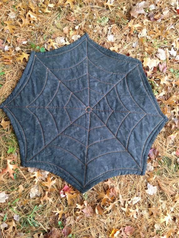 Spider Web Quilt Back