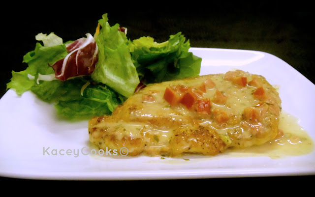 One of the yummiest, easiest chicken dishes I make.  Juicy and full of flavor. Chicken Pomodoro from KaceyCooks