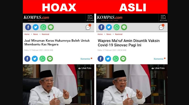 Awas Jebakan Hoax Miras Makruf Amin, Jangan Sampai Anda Tercyduk Sebar Hoax