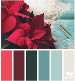 design seeds color palette from a poinsettia picture