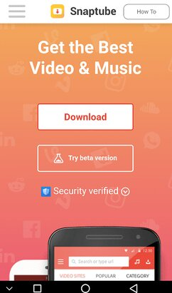 Download Videos From Social Sites using Snaptube