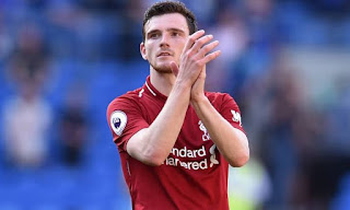 Liverpool 'prepared to sign a backup left-back forAndy Robertson (See names)
