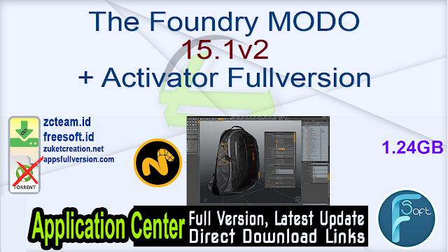 The Foundry MODO 15.1v2 + Activator Fullversion