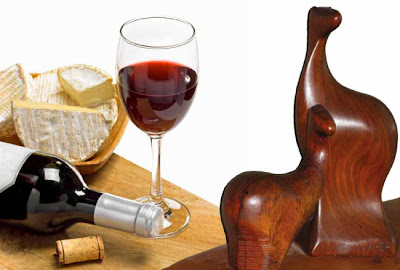 Athertyn Enrichment Series - Wine and Wharton.  Wine and cheese and the Wood Sculpture of Wharton Esherick