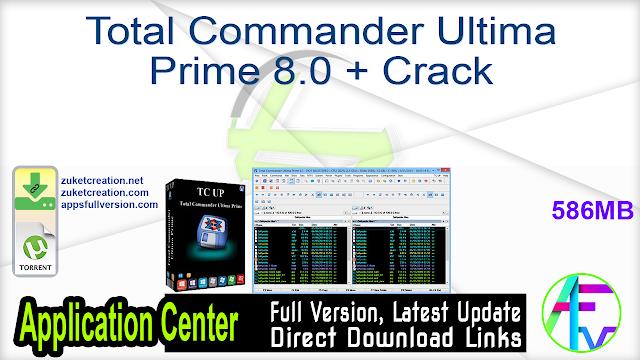 Total Commander Ultima Prime 8.0 + Crack