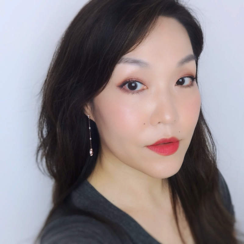 Canmake Silky Souffle Eyes Rose Sepia makeup look