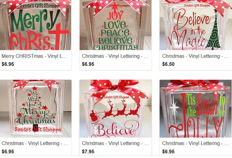 Christmas Vinyl Decals For Glass Blocks.Santa S Gift Shoppe Year Round Decals Sale Christmas In
