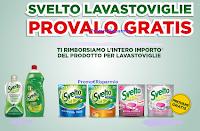 Logo Svelto Lavastoviglie Provalo Gratis: cashback totale di 1 prodotto