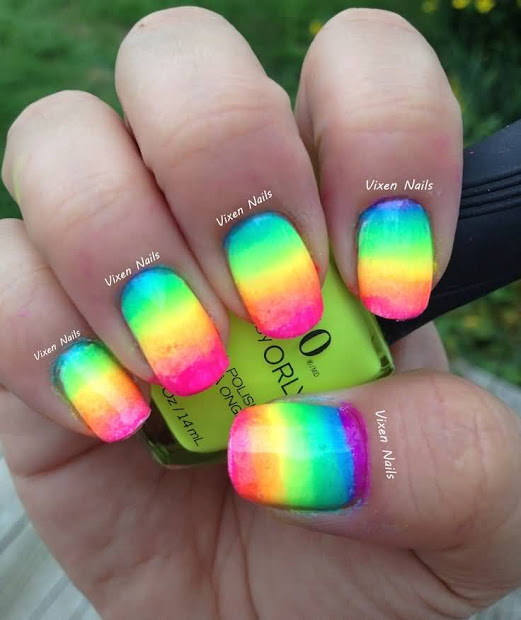 ombre nail color & design ideas