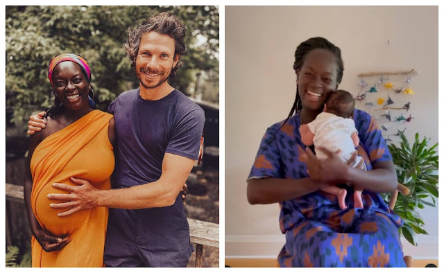 Dora Akunyili's daughter, Chidiogo Akunyili Parr, welcomes her first child with husband, Andrew Parr (Video)