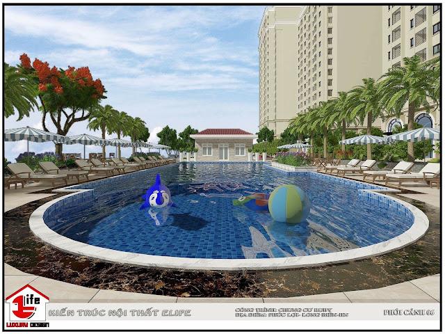 Bể bơi dự án Ruby City Ct3 Phúc Lợi