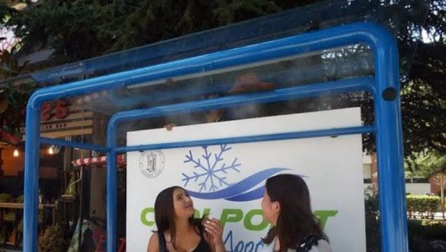 Η Ελληνική Πόλη που έλυσε το πρόβλημα της ζέστης στις στάσεις λεωφορείου