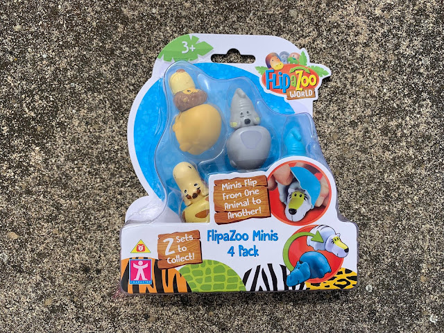 4 Pack of FlipaZoo Minis in packaging