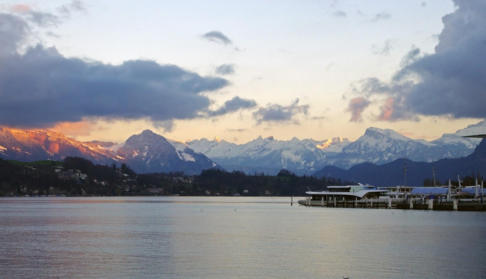 Lake Lucerne Sunset Switzerland