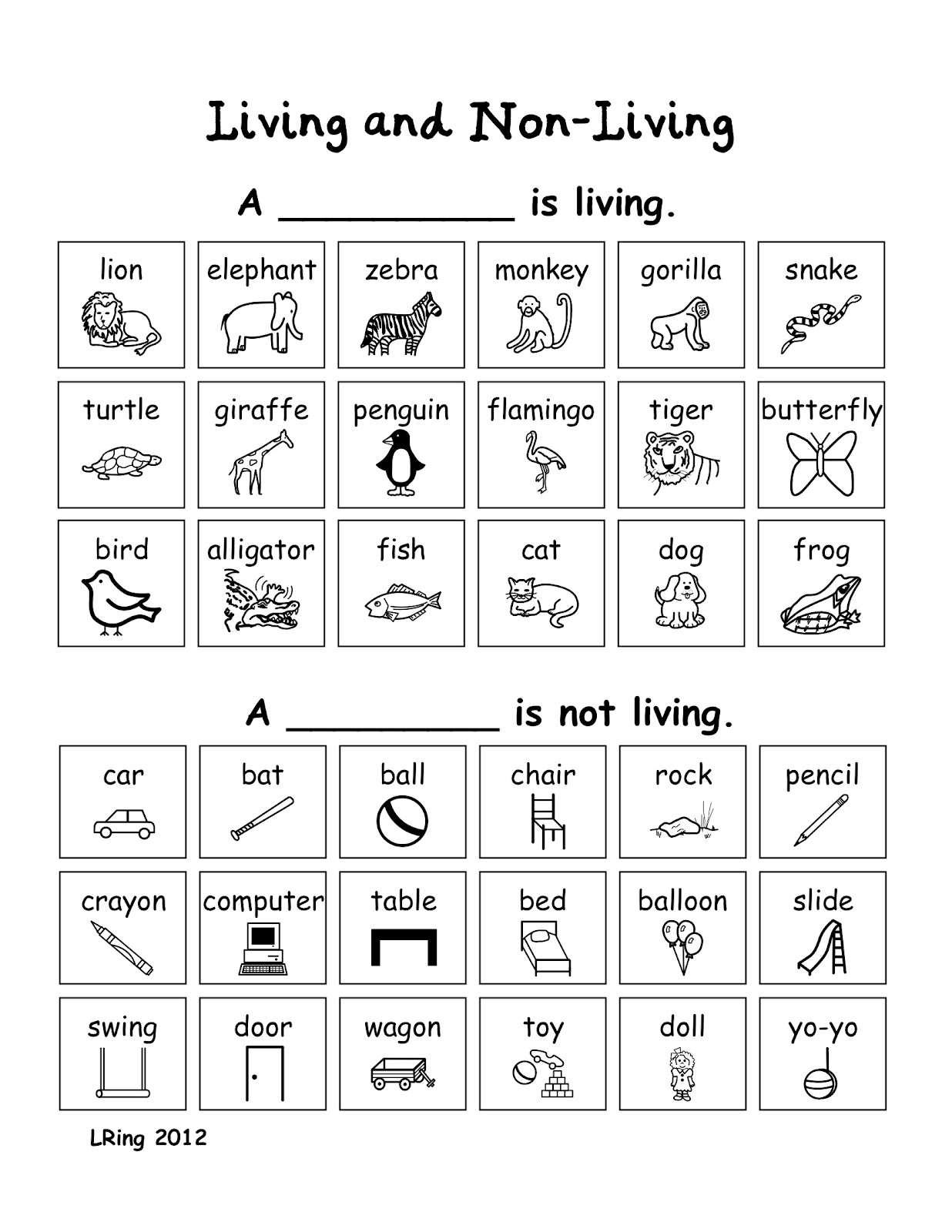 Living And Nonliving Worksheets Free Worksheets Library
