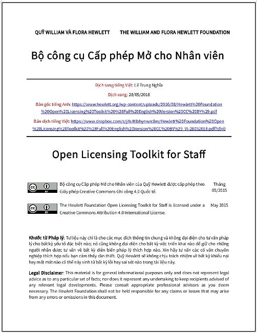 'Bộ công cụ cấp phép mở cho nhân viên' - bản dịch sang tiếng Việt