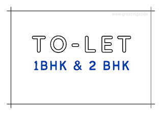 Tolet board 1bhk and 2bhk A4 Size images free download