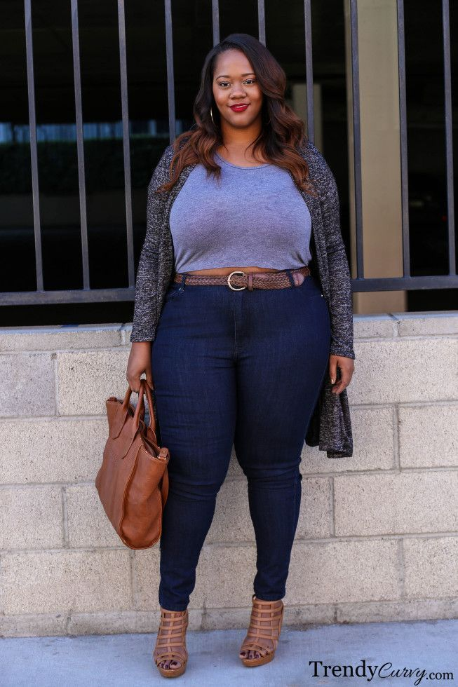 1ab47439b12 This other way to wear and style plus size outfits with jeans is to take a  pair of lightly washed out jeans with the slightest sort of distress marks  on the ...