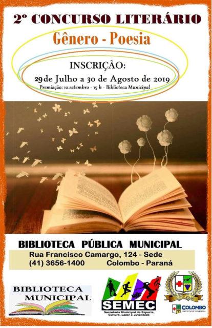 2ª edição do Concurso Literário abre inscrições