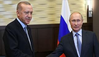 بوتين يتحدث مع أردوغان عبر الهاتف يوم 9 نوفمبر