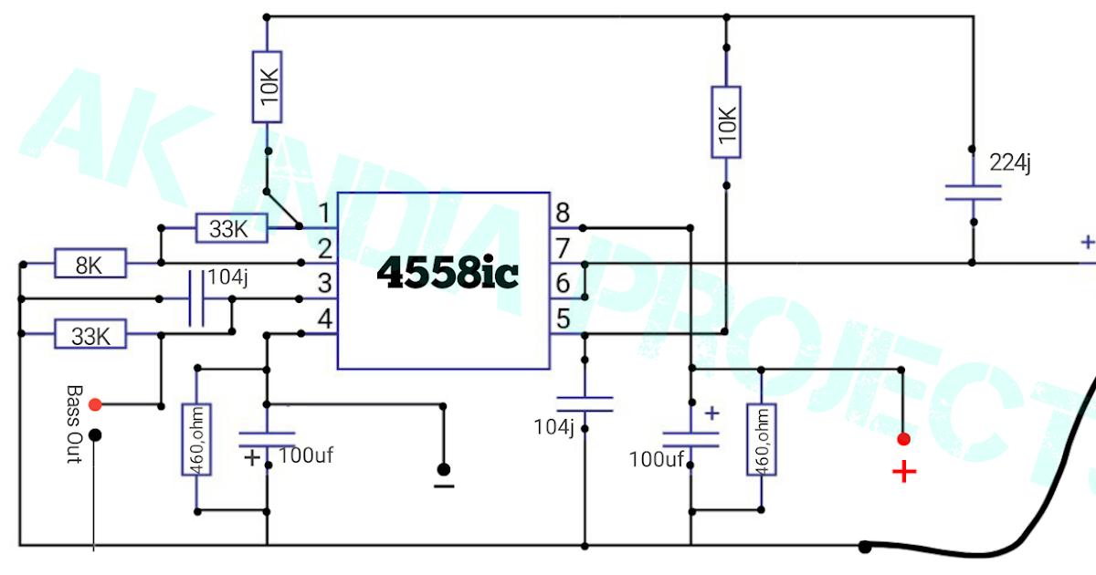4558 ic Subwoofer Filter Board    Amplifier Bass Booster ...