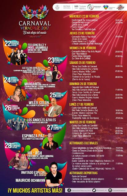 programa carnaval veracruz 2017