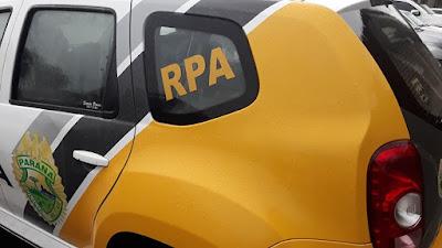 Em Nova Tebas PM recupera veículo que havia sido roubado em Jandaia do Sul