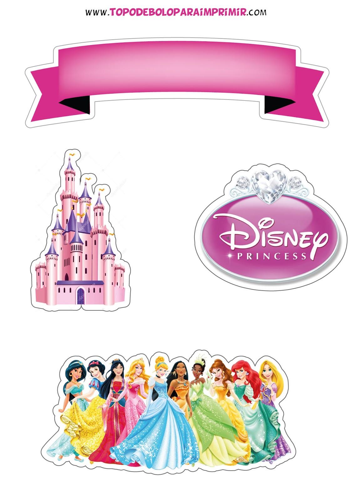 Topo De Bolo Princesas Para Imprimir Topper De Bolo Para Imprimir