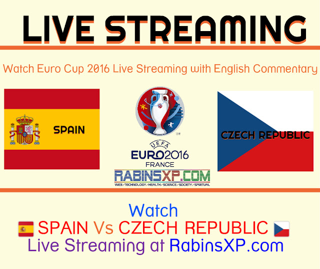 Spain vs the Czech Republic Euro Cup 2016 Live Streaming/Banner