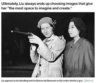 Celine Liu edits herself into old photographs of celebrities...
