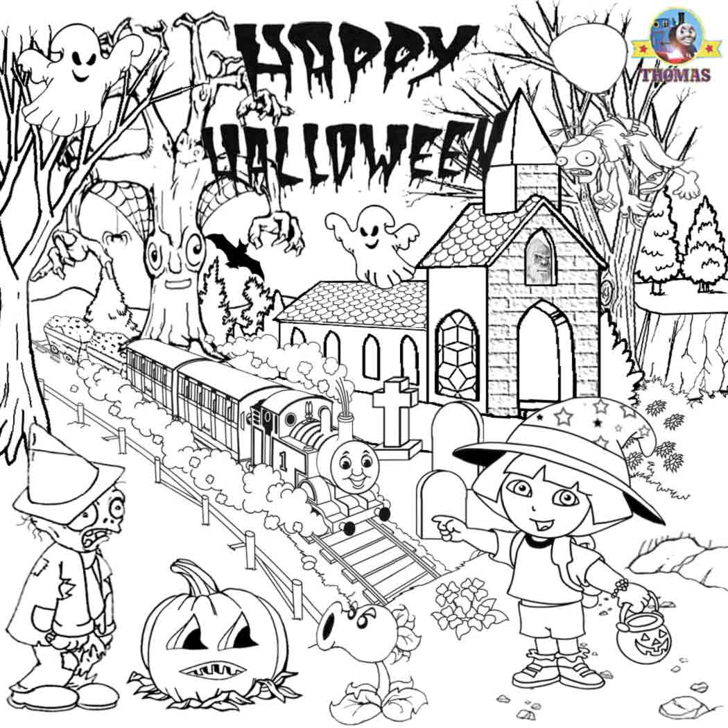 Free Printable Halloween Ideas Kids Activities Thomas Coloring Sheets