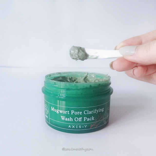 Review; AXIS-Y; Mugwort Pore Clarifying Wash Off Pack