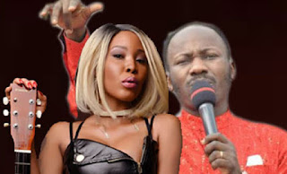 Image result for Stephanie Otobo Grants A Tell It All Press Conference Calling Out Apostle Suleman
