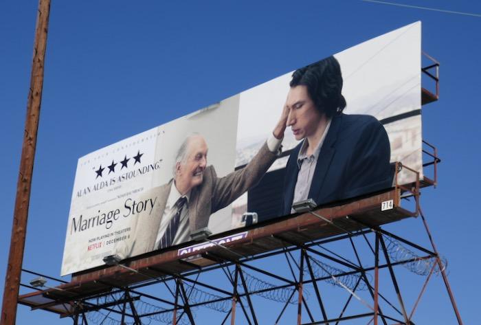 Alan Alda Marriage Story FYC billboard
