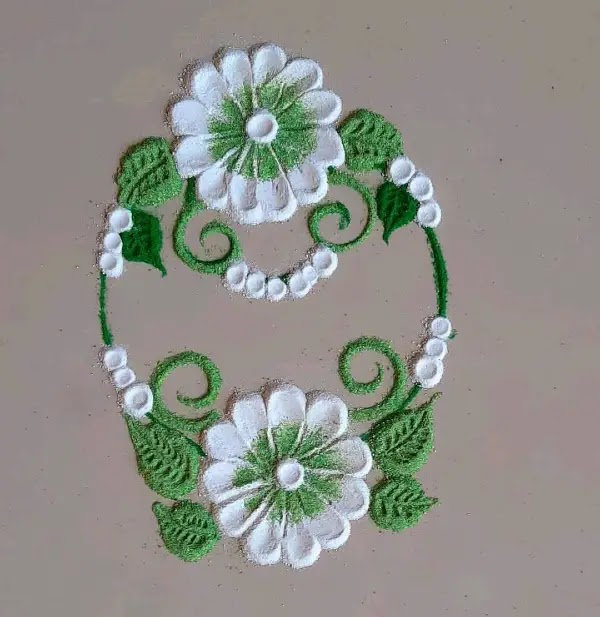 White_flowers_with_green_leaves_design
