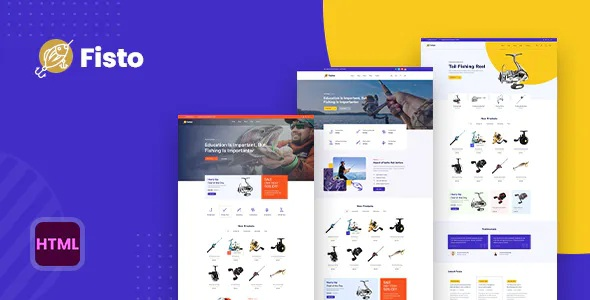Best Fishing and Hunting Hobby Accessories Store HTML5 Responsive Template