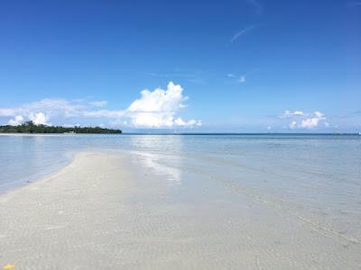 Matahum beach resort at low tide