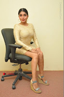Actress Pooja Roshan Stills in Golden Short Dress at Box Movie Audio Launch  0103.JPG