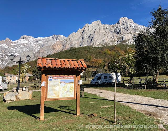Área de autocaravanas de Posada de Valdeón | León en autocaravana