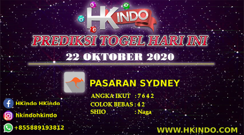 PREDIKSI TOGEL SYDNEY HARI INI 22 OKTOBER 2020