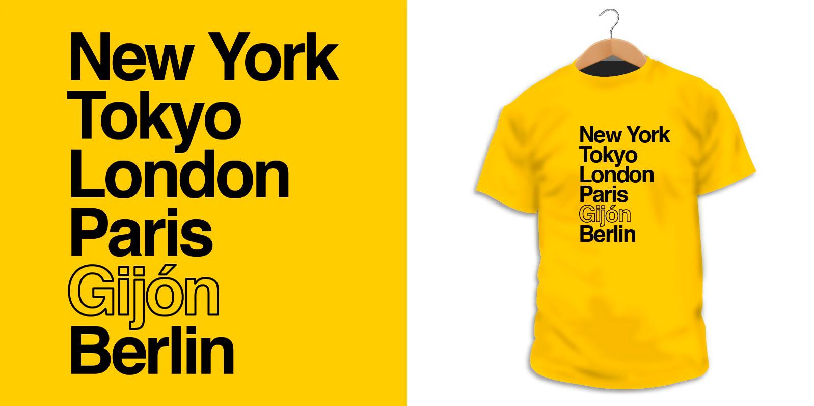 3160ef44f Camiseta personalizable con el nombre de tu ciudad