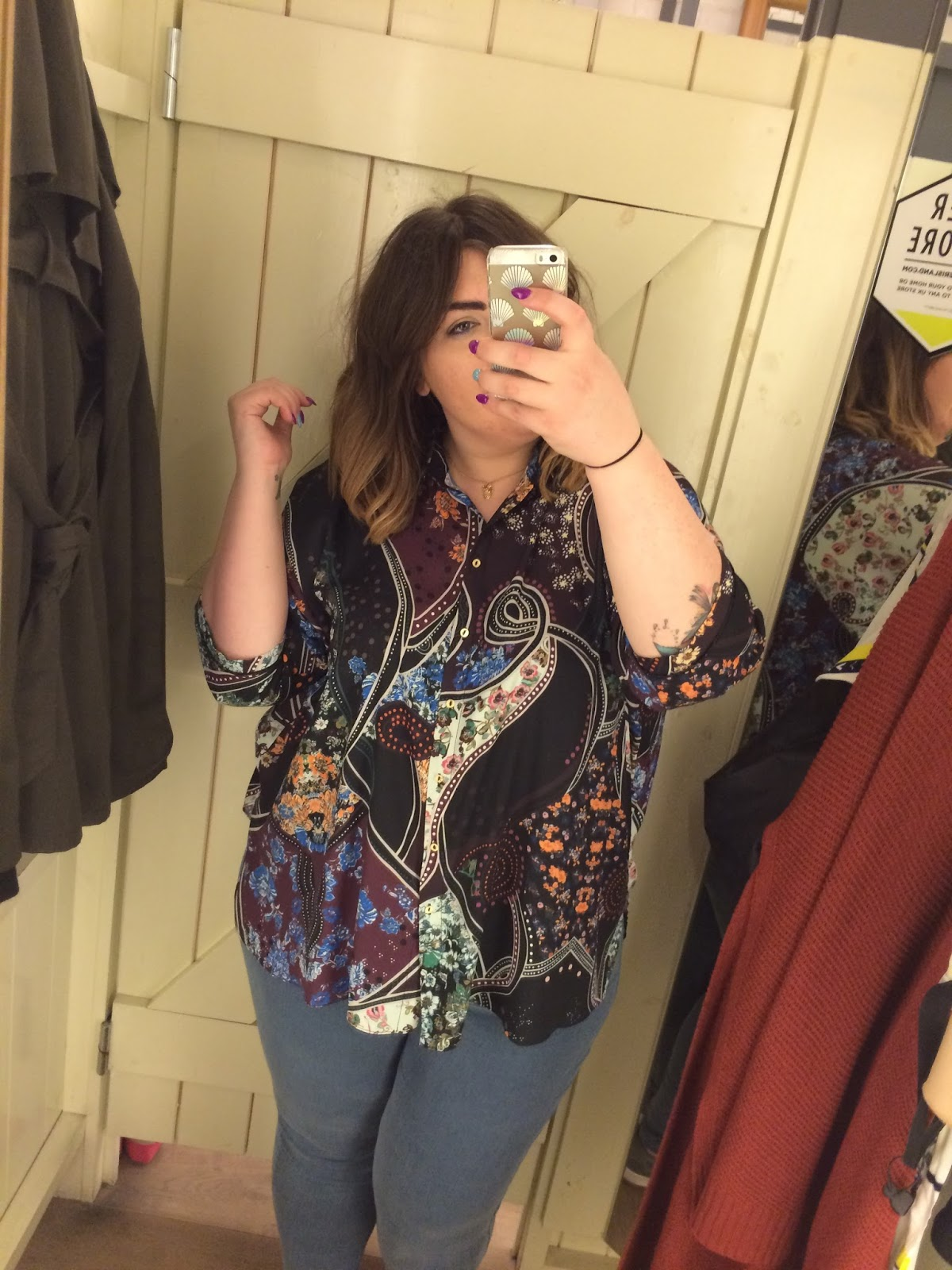 River Island Plus Size Range Printed Oversized Shirt