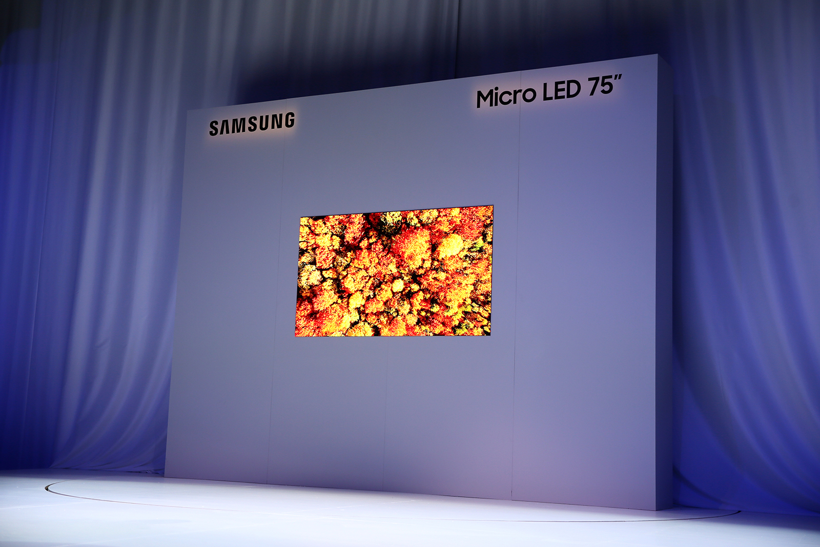 Future screens with Samsung Modular Micro LED Technology at