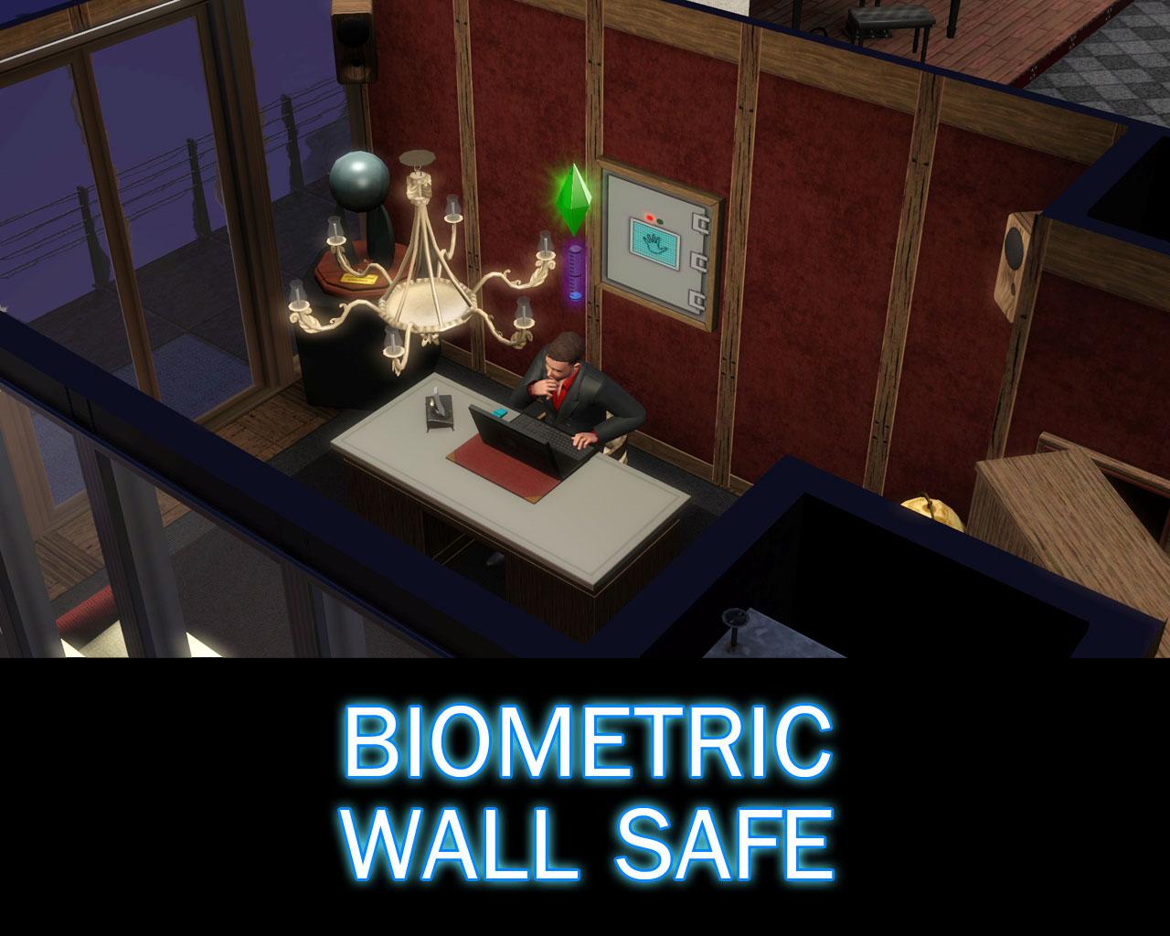 My Sims 3 Blog: Biometric Wall Safe by Simoleon Real Estate