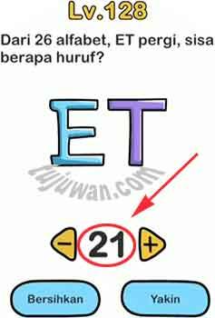 Dari 26 Alfabet, ET Pergi Sisa Berapa Huruf Jawaban Brain Out di Level 128