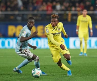 Chukwueze shines as substitute Trigueros netted a stoppage-time winner for Villarreal