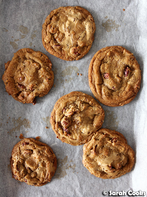 Burnt butter, caramelised white chocolate and toasted pecan cookies