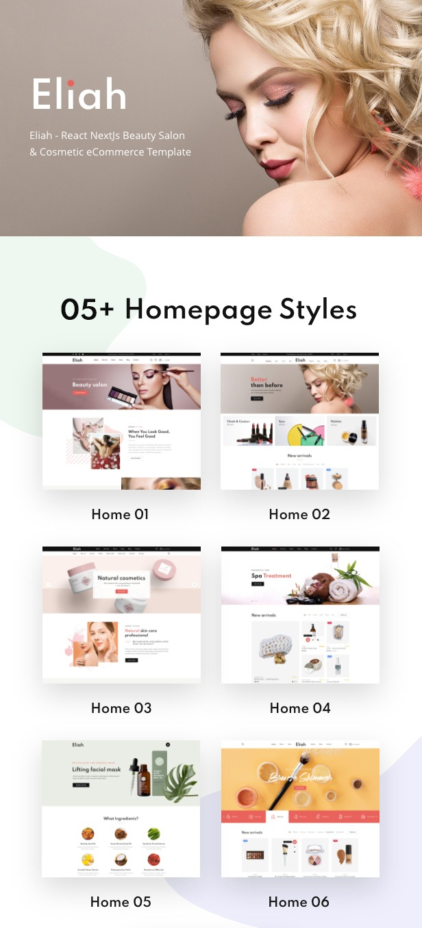 Download Beauty Salon & Cosmetic eCommerce Template