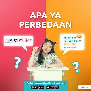 Perbedaan Ruang Kelas dan Brain Academy