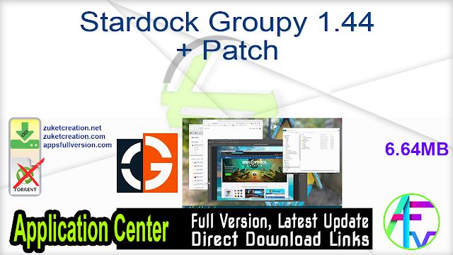 Stardock Groupy 1.44 + Patch